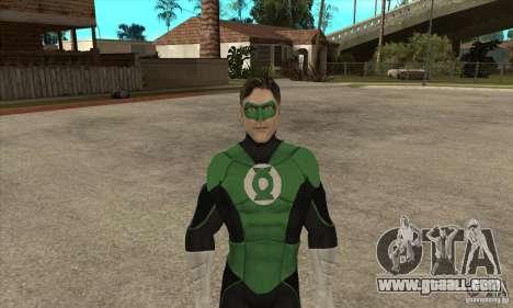 Green Lantern for GTA San Andreas second screenshot