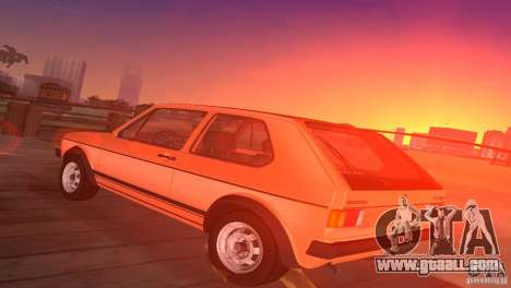 Volkswagen Golf Mk1 GTI for GTA Vice City left view