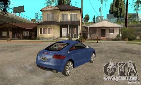 Audi TT 2007 for GTA San Andreas back view