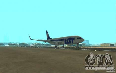 Boeing 737 LOT Polish Airlines for GTA San Andreas inner view