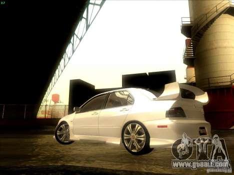 Mitsubishi Lancer Evolution VIII Full Tunable for GTA San Andreas side view