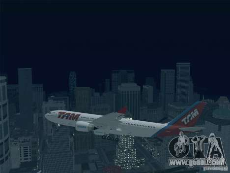 Airbus A330-223 TAM Airlines for GTA San Andreas upper view