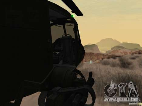 Huey helicopter from call of duty black ops for GTA San Andreas inner view