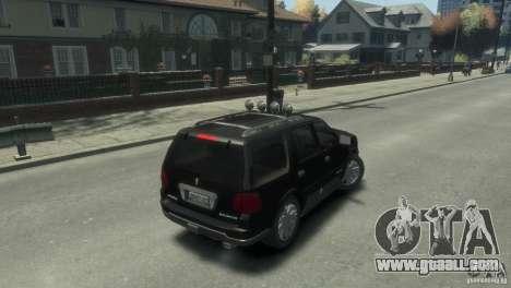 Lincoln Navigator for GTA 4 back left view