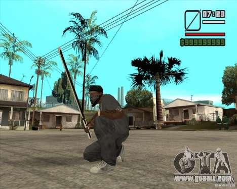 Sasuke sword for GTA San Andreas second screenshot