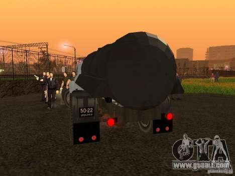 GAZ 53 Flusher for GTA San Andreas back left view