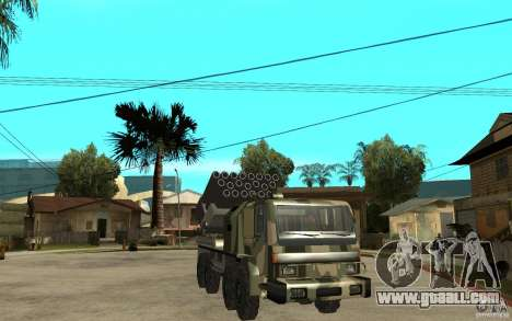 Missile Launcher Truck for GTA San Andreas back view