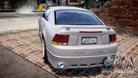 Ford Mustang SVT Cobra v1.0 for GTA 4 back left view