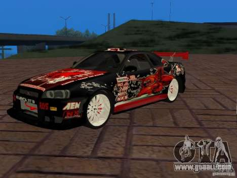 Nissan Skyline GT-R R34 Tunable for GTA San Andreas right view