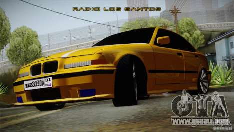 BMW M3 Z366 for GTA San Andreas back left view