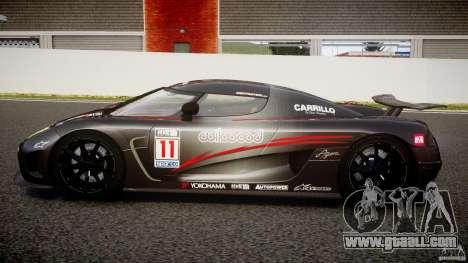 Koenigsegg Agera v1.0 [EPM] for GTA 4 left view
