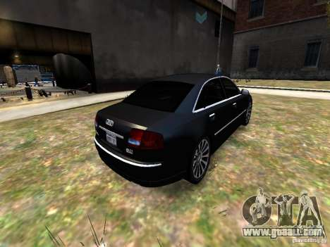 Audi A8L W12 for GTA 4 back view