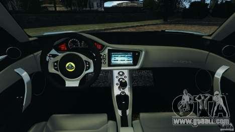Lotus Evora 2009 v1.0 for GTA 4 back view