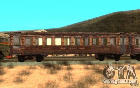 A train of the game s.t.a.l.k.e.r. for GTA San Andreas left view