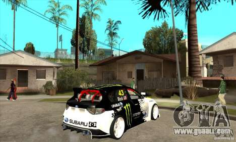 Subaru Impreza 2009 (Ken Block) for GTA San Andreas right view