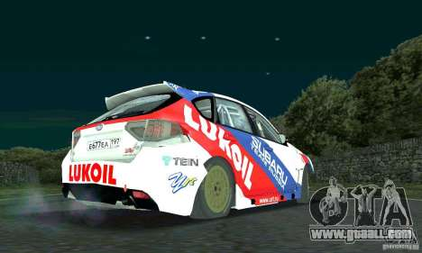 Subaru Impreza WRX STi Russia Rally for GTA San Andreas back view