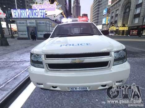 Chevrolet Tahoe Homeland Security for GTA 4 inner view