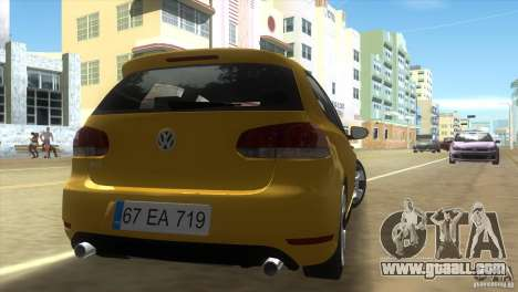 Volkswagen Golf 6 GTI for GTA Vice City back left view
