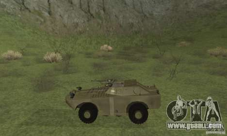 BRDM-1 Skin 2 for GTA San Andreas back left view