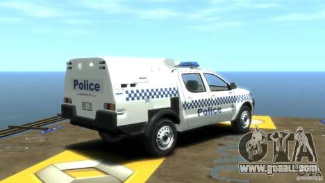 Toyota Hilux Australian Police ELS for GTA 4 back left view
