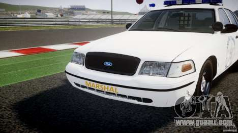 Ford Crown Victoria US Marshal for GTA 4 upper view