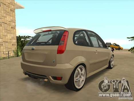 Ford Fiesta ST for GTA San Andreas back left view