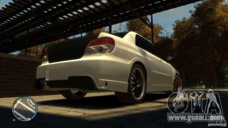 Subaru Impreza 2005 for GTA 4 back view