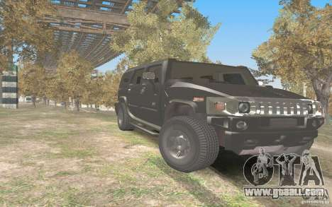 Hummer H2 Stock for GTA San Andreas back view