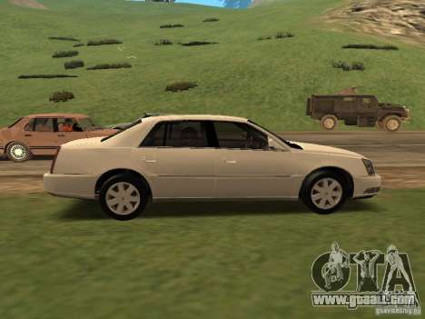 Cadillac DTS 2010 for GTA San Andreas back left view