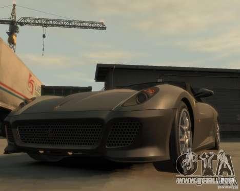 Ferrari 599 GTO for GTA 4 back view