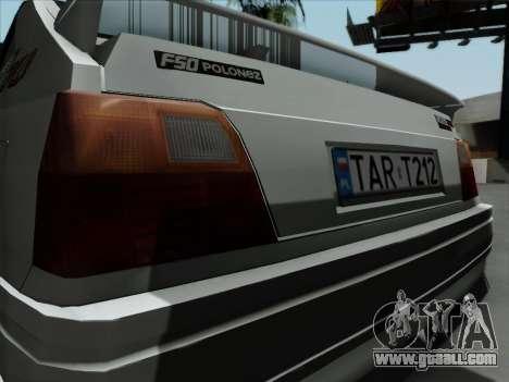 FSO Polonez Caro Orciari 1.4 GLI 16v for GTA San Andreas right view
