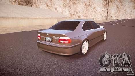 BMW 530I E39 stock white wheels for GTA 4 side view