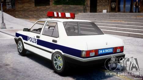 Tofas Sahin Turkish Police v1.0 for GTA 4 back left view
