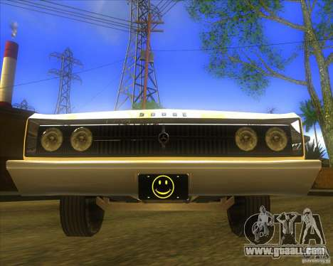 Dodge Coronet 1967 for GTA San Andreas back view