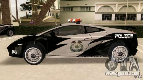 Lamborghini Gallardo Police for GTA Vice City left view