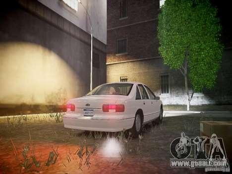 Chevrolet Caprice 1993 Rims 1 for GTA 4 back view