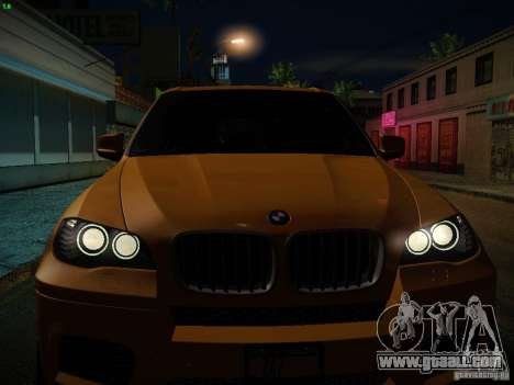 BMW X5M 2011 for GTA San Andreas engine