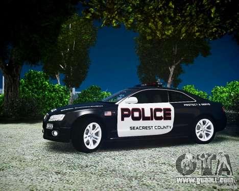 Audi S5 Police for GTA 4 back left view