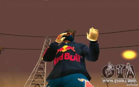 Red Bull Clothes v1.0 for GTA San Andreas sixth screenshot