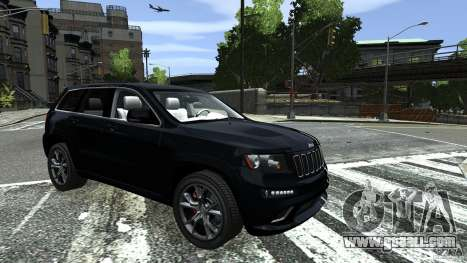 Jeep Grand Cherokee STR8 2012 for GTA 4 back left view