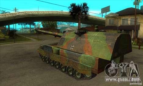 Panzerhaubitze 2000 for GTA San Andreas back left view