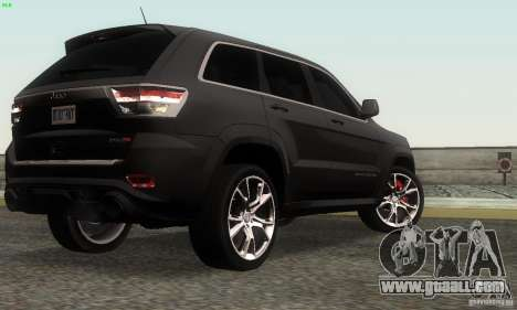 Jeep Grand Cherokee SRT8 for GTA San Andreas left view