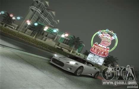 Spyker C8 Aileron for GTA San Andreas bottom view