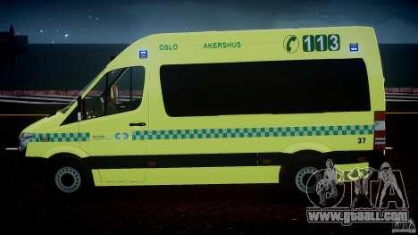 Mercedes-Benz Sprinter PK731 Ambulance [ELS] for GTA 4 interior