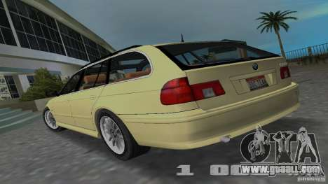 BMW 5S Touring E39 for GTA Vice City left view