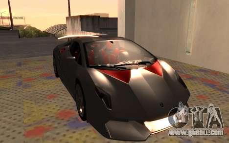 Lamborghini Sesto Elemento 2011 for GTA San Andreas left view