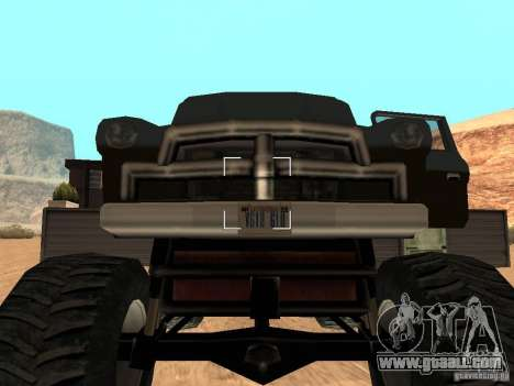 Walton Monster for GTA San Andreas back view