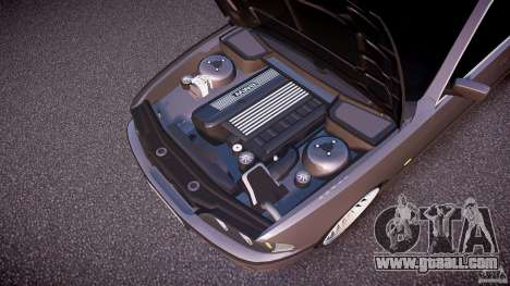 BMW 530I E39 stock white wheels for GTA 4 bottom view