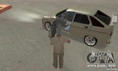 LADA 2112 Tuning (F) for GTA San Andreas inner view