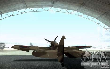 Spitfire for GTA San Andreas back left view
